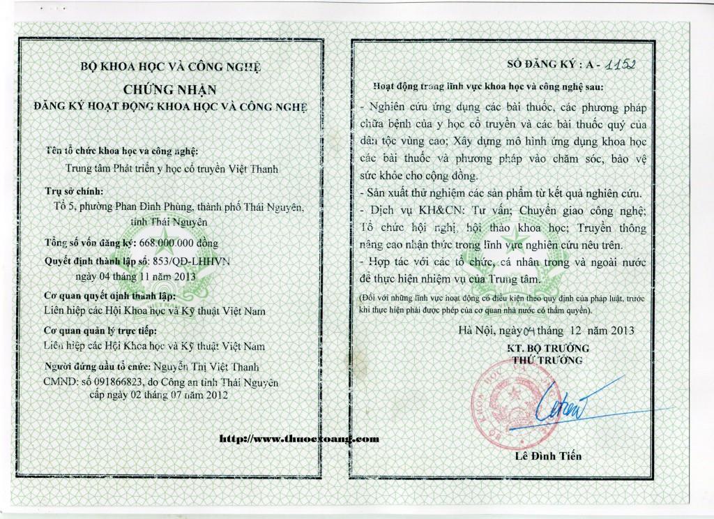 giấy phép Doctor Nam