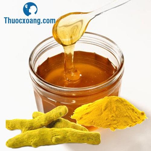 Ngậm nghệ vàng trộn mật ong giúp hỗ trợ điều trị viêm mũi xoang